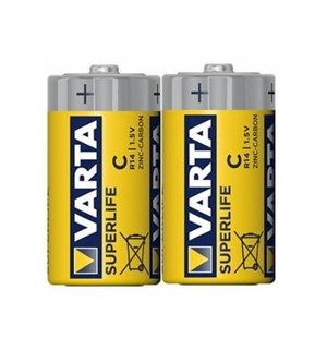 Varta Superlife C Orta boy Pil 2li Shrink Ambalaj